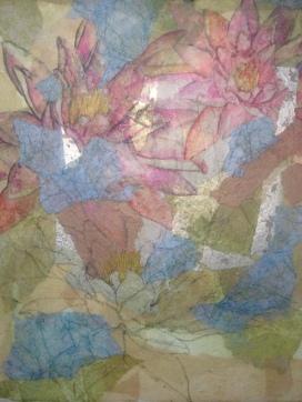 Watercolor and crayon